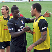 Galatasaray's players Colin Kazim RICHARDS (R) during their training session at the Jupp Derwall training center in Istanbul Turkey on Thursday,  August 20, 2011. Photo by TURKPIX