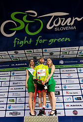 Diego Ulissi (ITA) of UAE Team Emirates celebrates in Green jersey as best overall rider at trophy ceremony after the 4th Stage of 26th Tour of Slovenia 2019 cycling race between Nova Gorica and Ajdovscina (153,9 km), on June 22, 2019 in Slovenia. Photo by Vid Ponikvar / Sportida