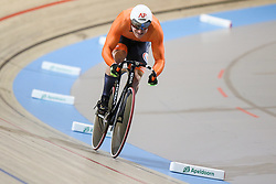 March 2, 2018 - Apeldoorn, Netherlands - Jeffrey Hoogland of Netherlands competes in Men's sprint qualifying during the UCI Track Cycling World Championships in Apeldoorn on March 2, 2018. (Credit Image: © Foto Olimpik/NurPhoto via ZUMA Press)