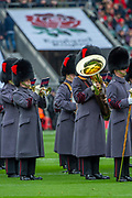 Twickenham, England, 7th March 2020, Brass Band of the Coldstream Guards, pre-game Warm up, Guinness Six Nations, International Rugby, England vs Wales, RFU Stadium, United Kingdom, [Mandatory Credit; Peter SPURRIER/Intersport Images]