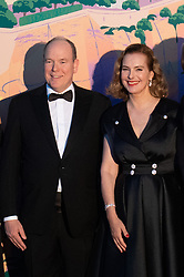 Prince Albert II of Monaco and Carole Bouquet attend the Rose Ball 2019 at Sporting in Monaco, Monaco on March 30, 2019. Photo by Stephane Cardinale-Pool/ABACAPRESS.COM