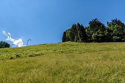 THEMENBILD - Im Blick der Zielschuss, aufgenommen am 26. Juni 2017, Kitzbühel, Österreich // In the view the Zielschuss at the Streif, Kitzbühel, Austria on 2017/06/26. EXPA Pictures © 2017, PhotoCredit: EXPA/ Stefan Adelsberger