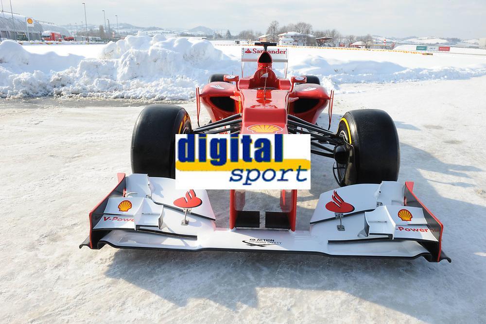MOTORSPORT - F1 2012 - SCUDERIA FERRARI F2012 LAUNCH - FIORANO (ITA) - 03/02/2012 - PHOTO : ERCOLE COLOMBO / DPPI<br /> CAR GENERAL ASPECT - AMBIANCE