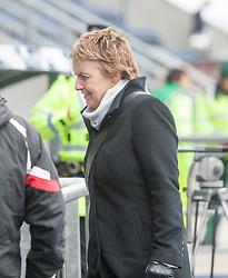 Leeann Dempster, Hibernian Chief Executive. <br /> Falkirk 0 v 3 Hibernian, Scottish Championship game played at The Falkirk Stadium 2/5/2015.