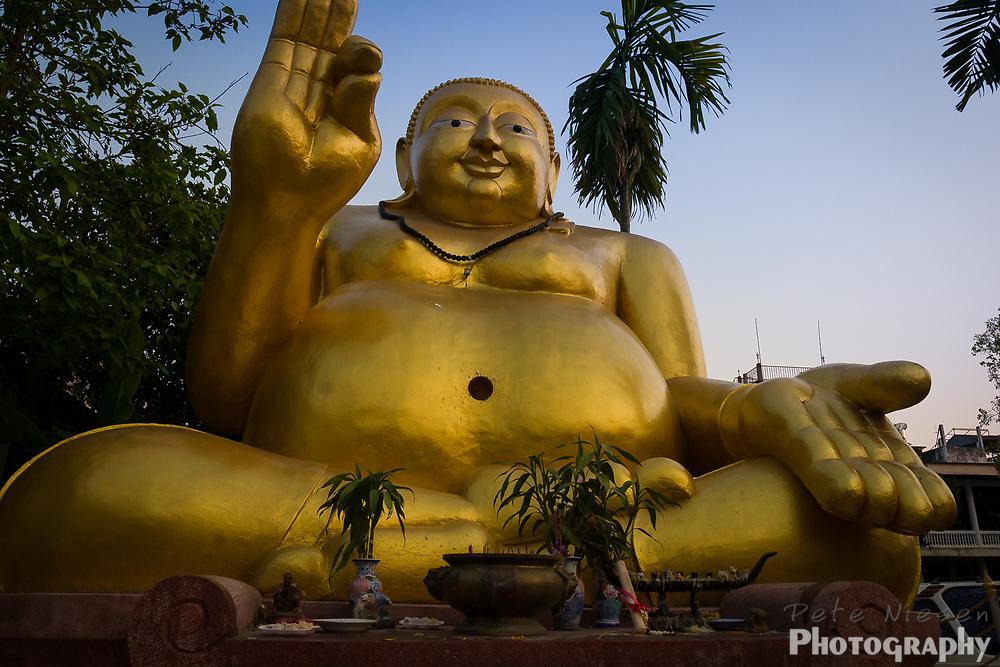 Golden Fat Happy Buddha statue