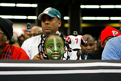 A Philadelphia Eagles fan holds a Michael Vick doll during the NFL game between the Philadelphia Eagles and the Atlanta Falcons on December 6th 2009. The Eagles won 34-7 at The Georgia Dome in Atlanta, Georgia. (Photo By Brian Garfinkel)