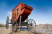 Kearney, Nebraska NE USA, Old wagon on the Oregon trail near fort Kearney