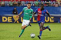 SOCCER : GFC Ajaccio vs Red Star -Coupe de la ligue - 08/22/201<br /> O. Kemen (GFCA) vs L. Lapoussin (Red Star)<br /> <br /> Norway only