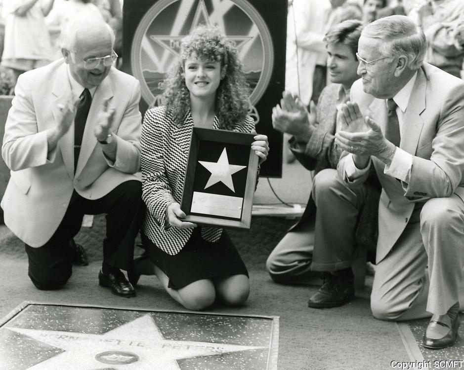 1987 Bernadette Peter's Walk of Fame ceremony