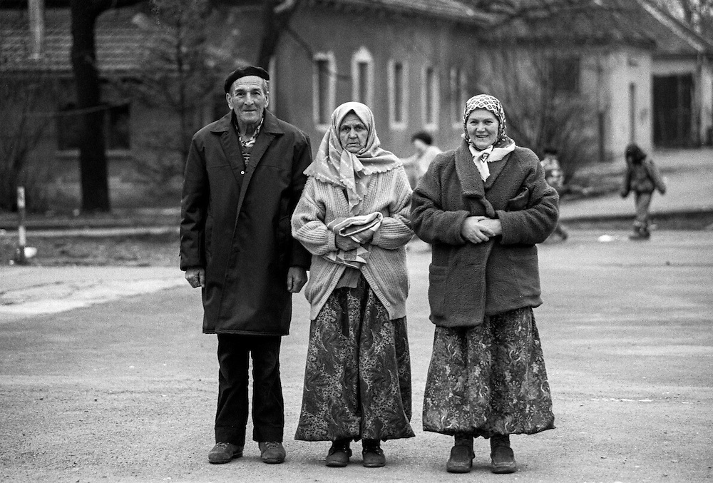 Refugees from Bosnia in the Varazdin refugee camp in Croatia in the winter of 1992.
