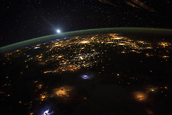 EARTH Aboard the International Space Station -- 10 Aug 2015 -- NASA astronaut Scott Kelly took this spectacular view of the western USA during his record 340 days aboard the International Space Station. Various thunder storms are seen as bright patches in the foreground of this image. EXPA Pictures © 2016, PhotoCredit: EXPA/ Photoshot/ Scott Kelly/Atlas Photo Archive/<br /> <br /> *****ATTENTION - for AUT, SLO, CRO, SRB, BIH, MAZ, SUI only*****