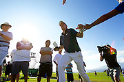 January 10 2016: Jordan Spieth walks up the fourteen during the Final Round of the Hyundai Tournament of Champions at Kapalua Plantation Course on Maui, HI. (Photo by Aric Becker)