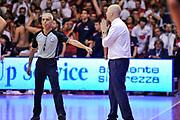 DESCRIZIONE : Campionato 2014/15 Serie A Beko Grissin Bon Reggio Emilia - Dinamo Banco di Sardegna Sassari Finale Playoff Gara7 Scudetto<br /> GIOCATORE : Massimiliano Menetti Roberto CHairi<br /> CATEGORIA : Fair Play Ritratto Delusione<br /> SQUADRA : Grissin Bon Reggio Emilia<br /> EVENTO : LegaBasket Serie A Beko 2014/2015<br /> GARA : Grissin Bon Reggio Emilia - Dinamo Banco di Sardegna Sassari Finale Playoff Gara7 Scudetto<br /> DATA : 26/06/2015<br /> SPORT : Pallacanestro <br /> AUTORE : Agenzia Ciamillo-Castoria/L.Canu