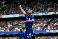 Gary Cahill of Chelsea shows frustration and protests a decision .Premier league match, Chelsea v Arsenal at Stamford Bridge in London on Sunday 17th September 2017.<br /> pic by Kieran Clarke, Andrew Orchard sports photography.