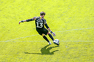 Barnsley goalkeeper Jack Walton (13) takes a goal kick during the EFL Sky Bet Championship match between Queens Park Rangers and Barnsley at the Kiyan Prince Foundation Stadium, London, England on 20 June 2020.