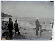 1900s seascape with people