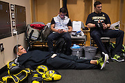 DALLAS, TX - MARCH 14:  UFC lightweight champion Anthony Pettis relaxes before his fight against Rafael Dos Anjos during UFC 185 at the American Airlines Center on March 14, 2015 in Dallas, Texas. (Photo by Cooper Neill/Zuffa LLC/Zuffa LLC via Getty Images) *** Local Caption *** Anthony Pettis