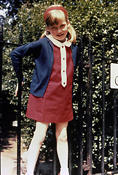 Family album picture of Lady Diana Spencer in Cadogan Place Gardens, London, in the summer of 1968.