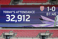 Record attendance for a womens FA Cup final during the SSE Women's FA Cup Final match between Chelsea Ladies and Arsenal Ladies at Wembley Stadium, London, England on 14 May 2016. Photo by Shane Healey.