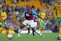 Photo: Ashley Pickering.<br /> Norwich City v West Ham United. Pre Season Friendly. 31/07/2007.<br /> Luis Boa Morte of West Ham (C)