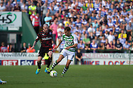 Edward Upson of Yeovil Town (r) and Danny Guthrie of Reading during the Skybet championship match, Yeovil Town v Reading at Huish Park in Yeovil on Saturday 31st August 2013. <br /> Picture by Sophie Elbourn, Andrew Orchard sports photography,