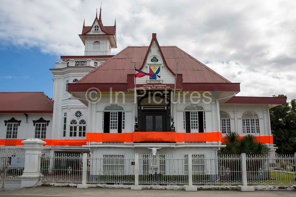 The mansion of the Aguinaldo Shrine in Kawit, Cavite, The Philippines. It commemorates Emilio Aguinaldo, the first president of the Philippines, and its independence from Spain which was declared on June 12, 1898