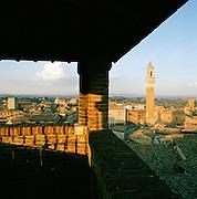 Piazza Del Campo seen from Museo dell Opera del Duomo, Siena, Italy.
