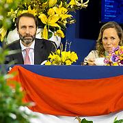 NLD/Amsterdam/20190126 - Prinses Beatrix bezoekt Jumping Amsterdam 2019, Tjaling Ten Cate en partner Prinses Margarita de Bourbon de Parme