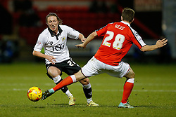 Luke Ayling of Bristol City is challenged by Jamie Ness of Crewe Alexandra - Photo mandatory by-line: Rogan Thomson/JMP - 07966 386802 - 20/12/2014 - SPORT - FOOTBALL - Crewe, England - Alexandra Stadium - Crewe Alexandra v Bristol City - Sky Bet League 1.