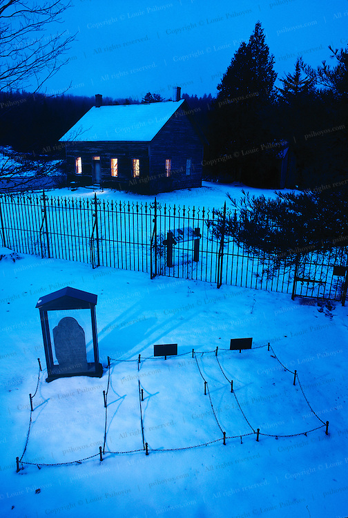 """""""His soul is marching on"""" sang by Union soldiers which became the """"Battle Hymn of the Republic."""" John Brown's grave lies near his farm in Lake Placid, New York."""