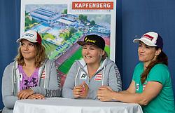 02.08.2016, Sportzentrum Kapfenberg, AUT, OeSV, Abfahrerinnen, Eishockey Kurs, im Bild v.l.: Ramona Siebenhofer (AUT), Tamara Tippler (AUT), Elisabeth Goergl (AUT) // of Austria during a Icehockey Training of Austria Downhill Team at the sport center Kapfenberg, Austria on 2016/08/02. EXPA Pictures © 2016, PhotoCredit: EXPA/ Domink Angerer