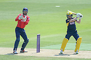 Hampshire wicketkeeper-batsman Adam Wheater and Essex wicket-keeper James Fostern during the Royal London One Day Cup match between Hampshire County Cricket Club and Essex County Cricket Club at the Ageas Bowl, Southampton, United Kingdom on 5 June 2016. Photo by David Vokes.