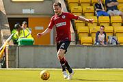 Paul McGinn (C) of St Mirren gets shot on goal during the Ladbrokes Scottish Premiership match between Livingston and St Mirren at Tony Macaroni Arena, Livingstone, Scotland on 20 April 2019.