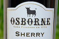 Osborne sherry, with the Osborne logo being a fighting bull, resembling the aurochs, Spain