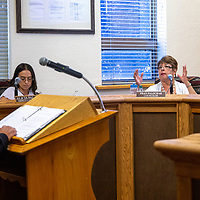 City Councilor Fran Palochak asks if the group can file another petition, during the Gallup City Council meeting Tuesday evening in council chambers.