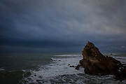 Winter in Biarritz, with a wild Atlantic Ocean.
