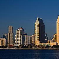 USA, California, San Diego. Downtown San Diego City Skyline.