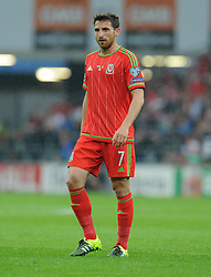 Joe Allen of Wales (Liverpool) - Photo mandatory by-line: Alex James/JMP - Mobile: 07966 386802 - 12/06/2015 - SPORT - Football - Cardiff - Cardiff City Stadium - Wales v Belgium - Euro 2016 qualifier