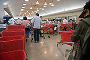people shopping in a Japanese supermarket