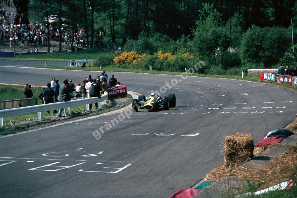 Jim Clark (Lotus-Climax) in the 1967 Belgian Grand Prix in Spa-Francorchamps. Photo: Grand Prix Photo