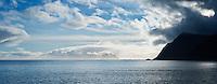 View towards Vaeroy from Å I Lofoten, Lofoten Islands, Norway