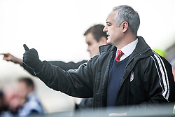 Brechin City manager Ray McKinnon. <br /> Falkirk 2 v 1 Brechin City, Scottish Cup fifth round game played today at The Falkirk Stadium.