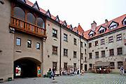 Bytów, 2011-07-08. Dziedziniec XIV-wiecznego zamku krzyżackiego
