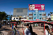 A large billboard advertising skin lightening cream in Jessore, Bangladesh.