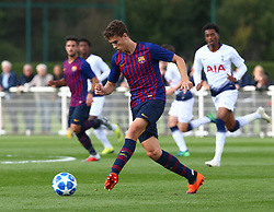 October 3, 2018 - London, England, United Kingdom - Enfield, UK. 03 October, 2018.Joan Castilla Rojas of FC Barcelona.during UEFA Youth League match between Tottenham Hotspur and FC Barcelona at Hotspur Way, Enfield. (Credit Image: © Action Foto Sport/NurPhoto/ZUMA Press)