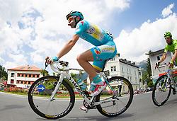 02.07.2013, Osttirol, AUT, 65. Oesterreich Rundfahrt, 3. Etappe, Heiligenblut - Matrei in Osttirol, im Bild Borut Bozic (SLO, Astana Pro Team) // during the 65 th Tour of Austria, Stage 3, from Heiligenblut to Matrei, Tyrol, Austria on 2013/07/02. EXPA Pictures © 2013, PhotoCredit: EXPA/ Johann Groder
