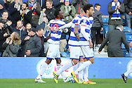 Queens Park Rangers forward Idrissa Sylla (40) celebrating scoring 1-0 during the EFL Sky Bet Championship match between Queens Park Rangers and Ipswich Town at the Loftus Road Stadium, London, England on 2 January 2017. Photo by Matthew Redman.