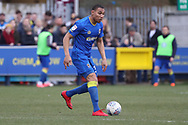 AFC Wimbledon defender Darius Charles (32) dribbling during the EFL Sky Bet League 1 match between AFC Wimbledon and Oxford United at the Cherry Red Records Stadium, Kingston, England on 10 March 2018. Picture by Matthew Redman.
