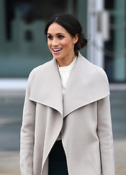 Meghan Markle during a visit to the Titanic Belfast maritime museum in Belfast. Photo credit should read: Doug Peters/EMPICS Entertainment