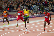 Mcc0041438 . Daily Telegraph..DT Sport..2012 Olympics..Usain Bolt wins the 100 meter Mens Final..5 August 2012....